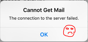 Cannot Get Mail – Iphone Sad Face – HappyMillFam